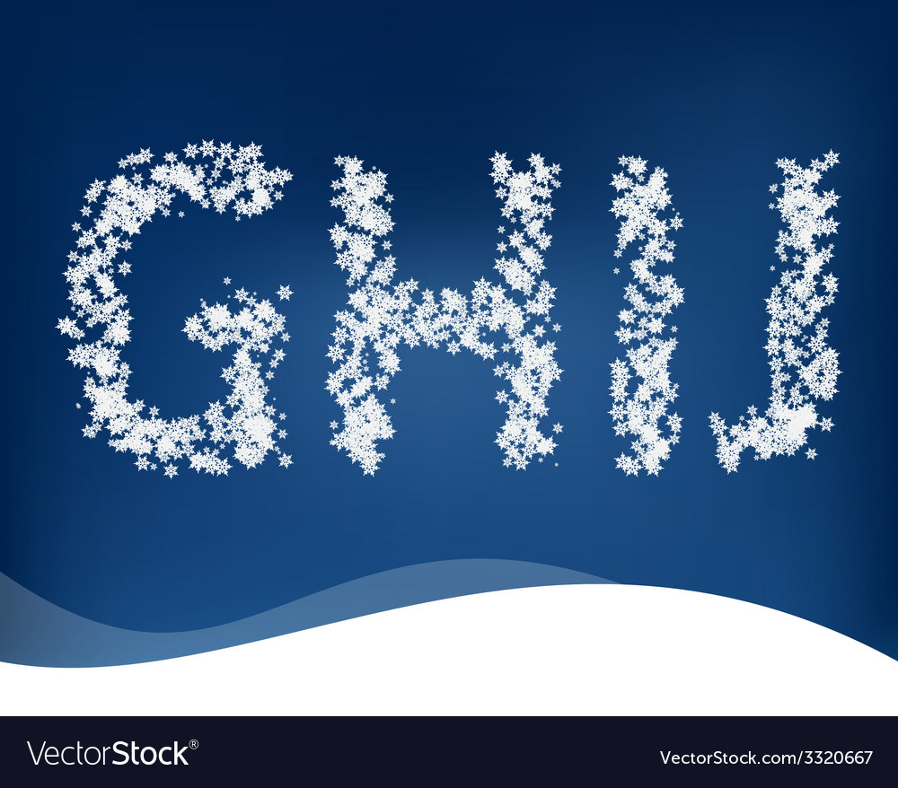 Snow letters for winter design vector | Price: 1 Credit (USD $1)