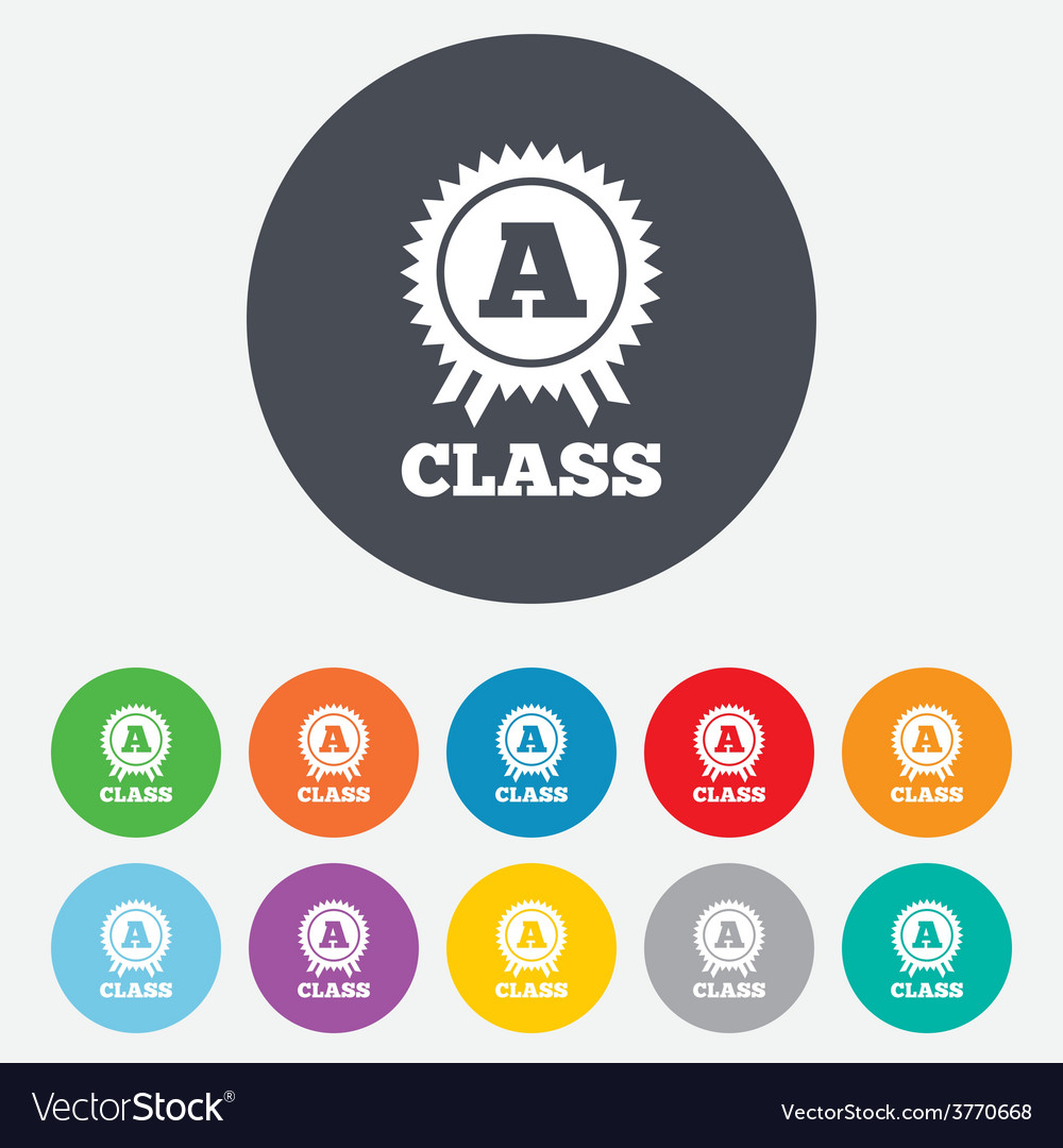 A-class award sign icon premium level symbol vector | Price: 1 Credit (USD $1)