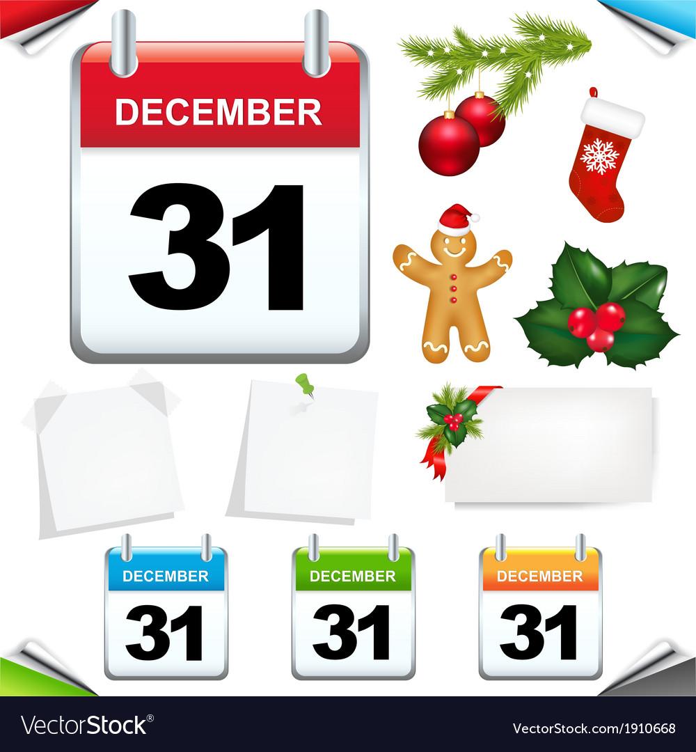 Calendars set vector | Price: 1 Credit (USD $1)