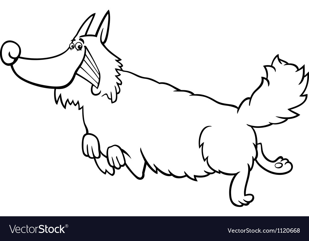 Cartoon shaggy dog for coloring book vector | Price: 1 Credit (USD $1)