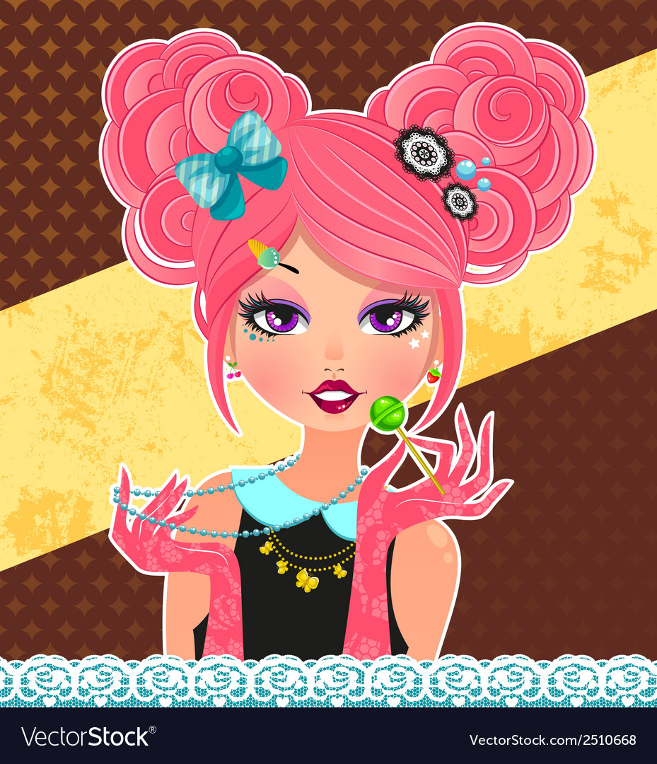 Cute fashion style vector | Price: 1 Credit (USD $1)
