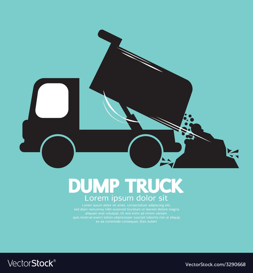 Dump truck carried and unloading loose material vector | Price: 1 Credit (USD $1)