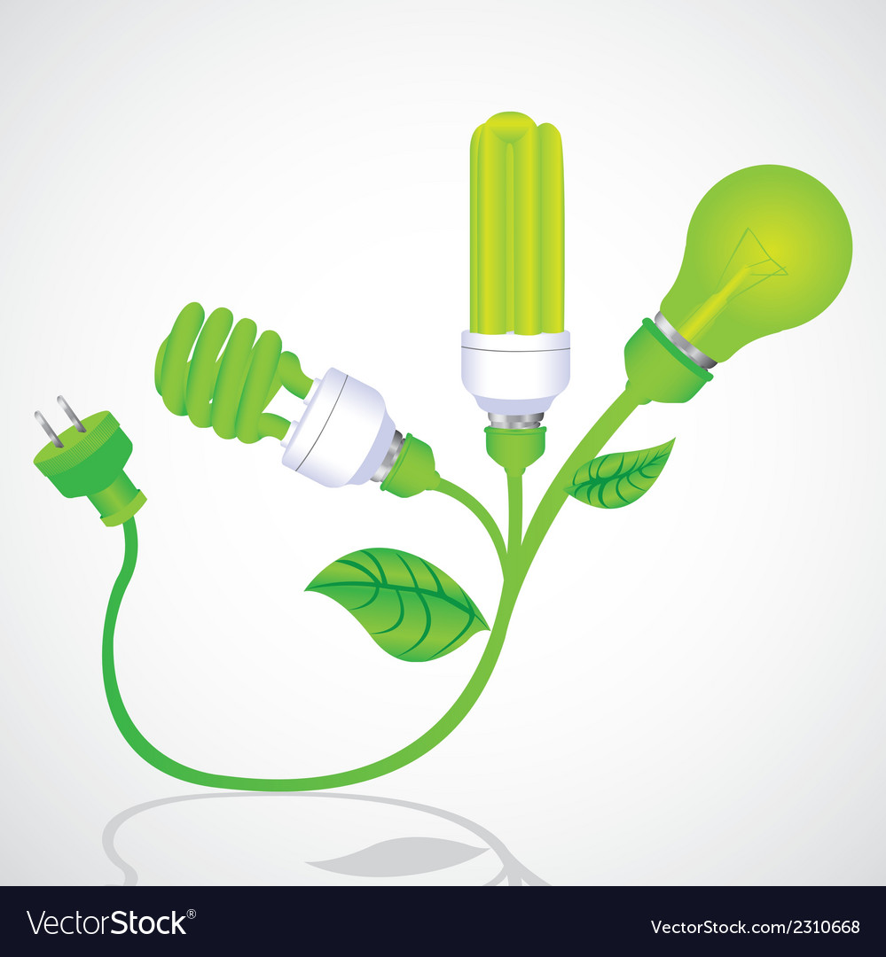 Ecological plant bulb with plug vector | Price: 1 Credit (USD $1)