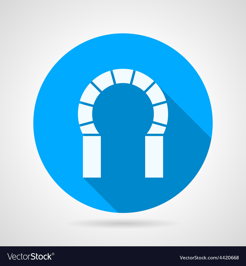 Flat round icon for brick horseshoe arch vector | Price: 1 Credit (USD $1)