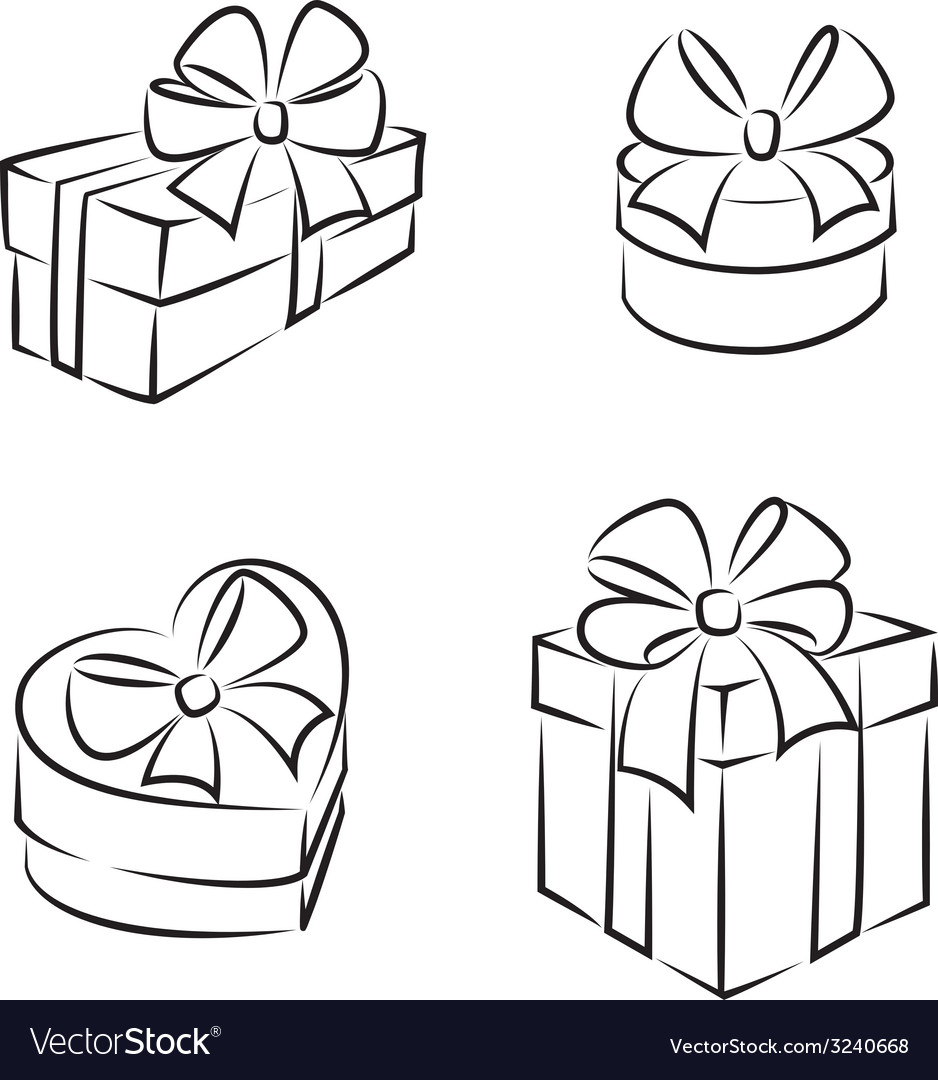 Gift boxes icons vector | Price: 1 Credit (USD $1)