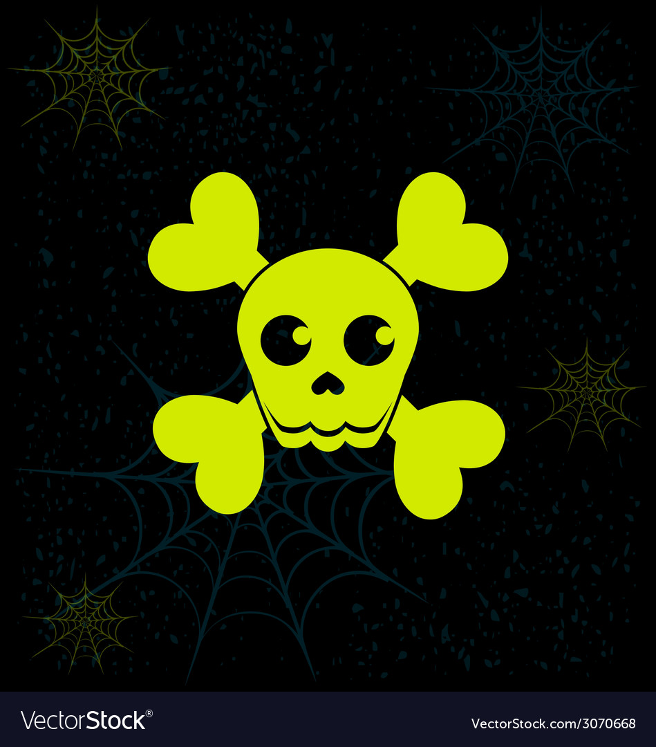 Neon skull vector | Price: 1 Credit (USD $1)