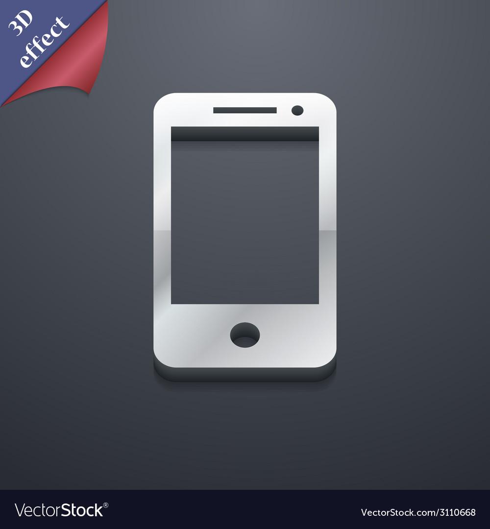 Smartphone widescreen icon symbol 3d style trendy vector   Price: 1 Credit (USD $1)