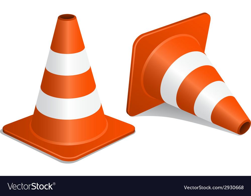 Traffic cones with shadow vector   Price: 1 Credit (USD $1)