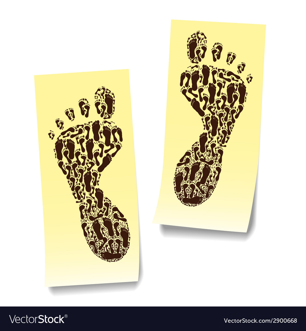 Two steps on the stickers vector | Price: 1 Credit (USD $1)