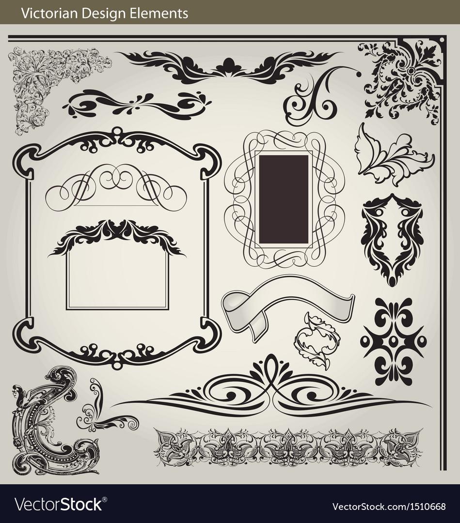 Victorian elements1 vector