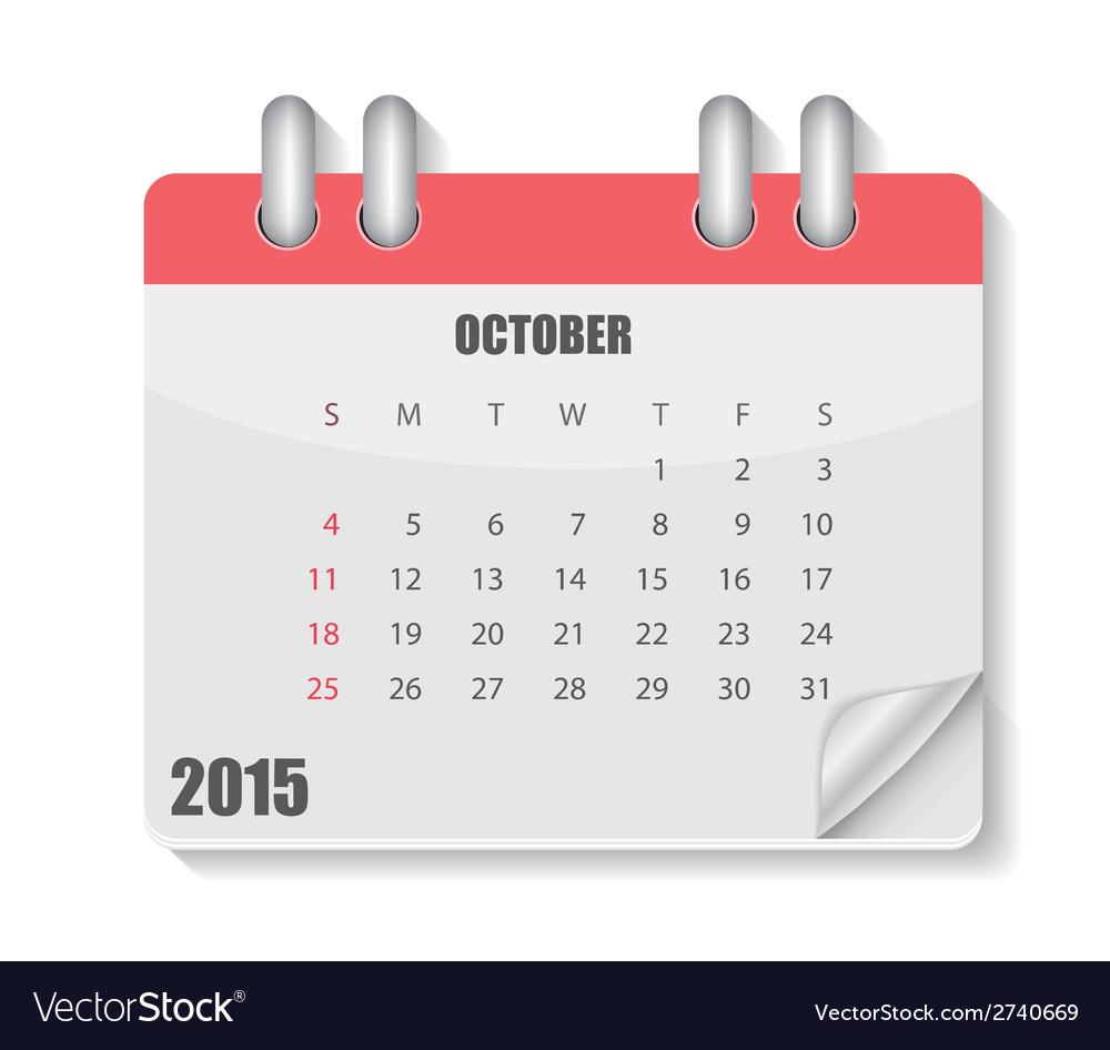 2015 year calendar vector | Price: 1 Credit (USD $1)
