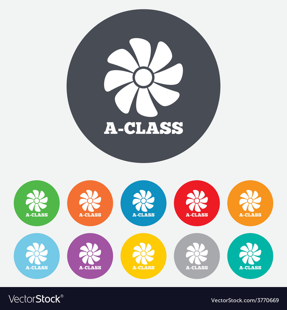 A-class ventilation sign icon energy efficiency vector | Price: 1 Credit (USD $1)