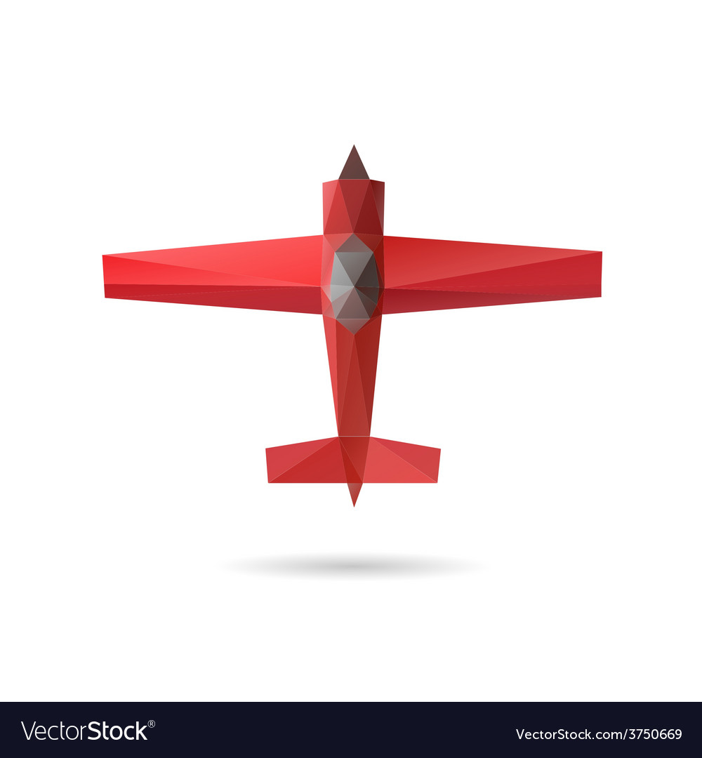 Airplane abstract isolated vector   Price: 1 Credit (USD $1)