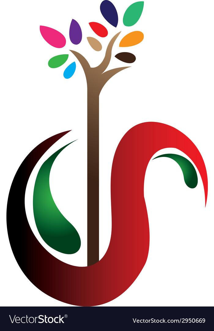 Alphabet s with tree vector | Price: 1 Credit (USD $1)