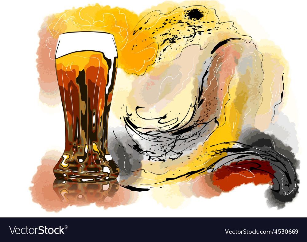 Beer foam vector | Price: 1 Credit (USD $1)