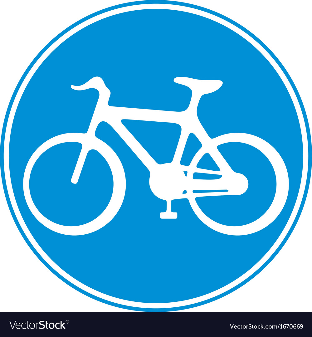 Bicycle lane sign vector | Price: 1 Credit (USD $1)