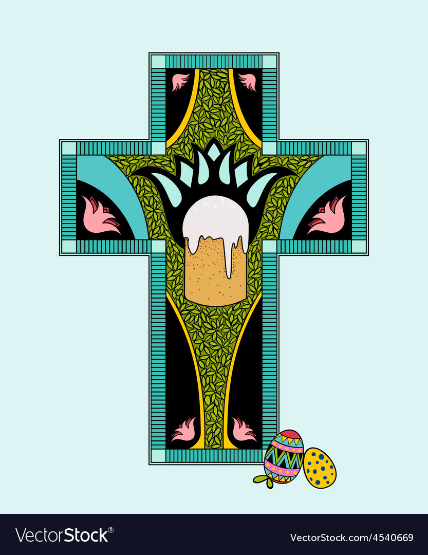 Colorfull easter stained glass vector | Price: 1 Credit (USD $1)