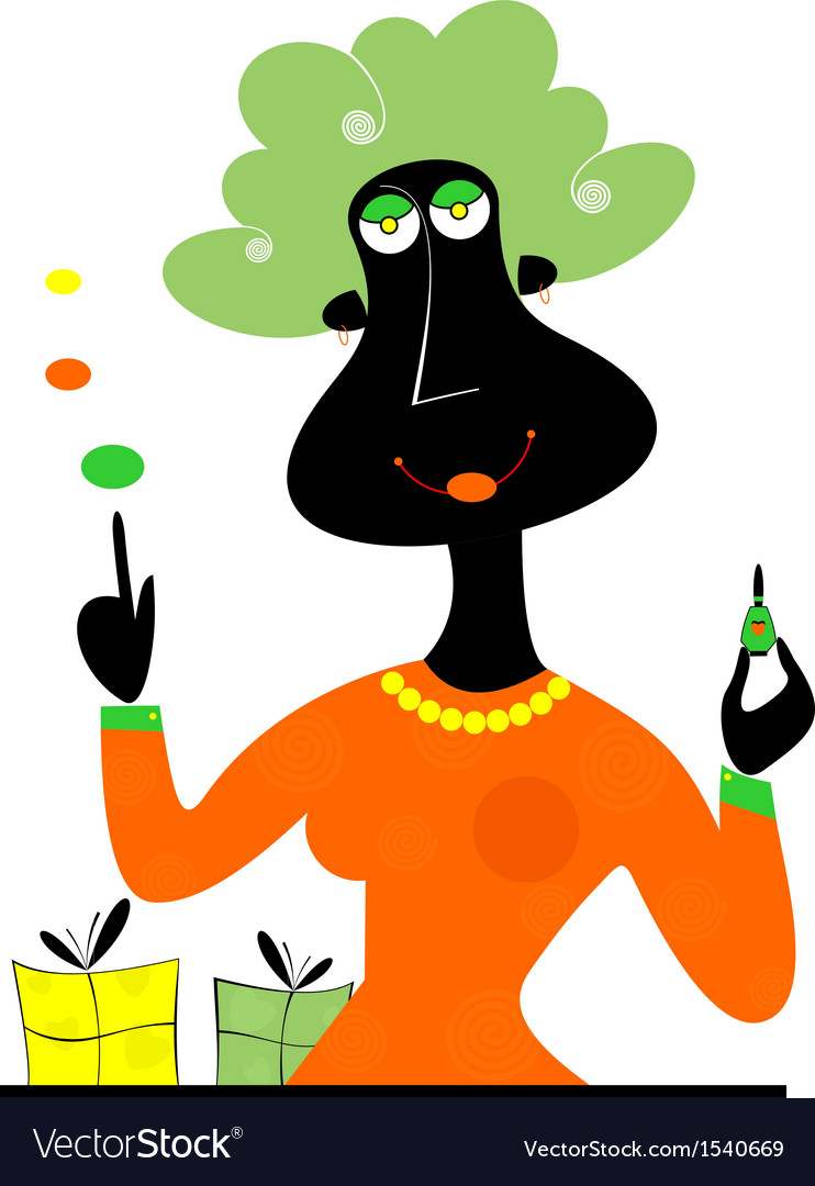 Perfume seller vector | Price: 1 Credit (USD $1)