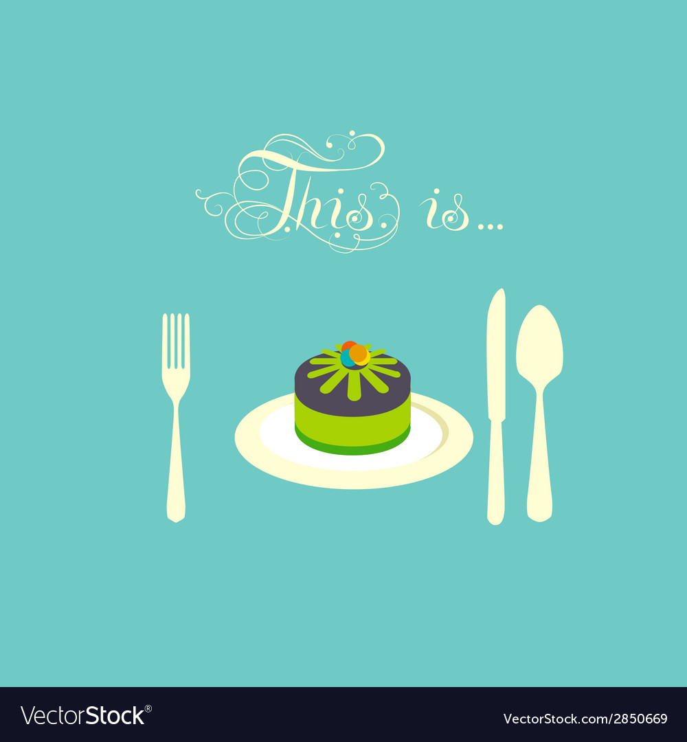 Pie lies on a plate vector | Price: 1 Credit (USD $1)