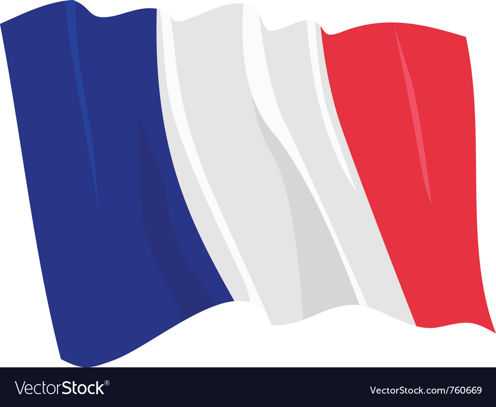 Political waving flag of france vector | Price: 1 Credit (USD $1)