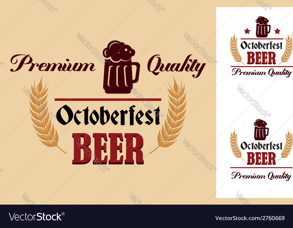Retro beer label or emblem vector | Price: 1 Credit (USD $1)