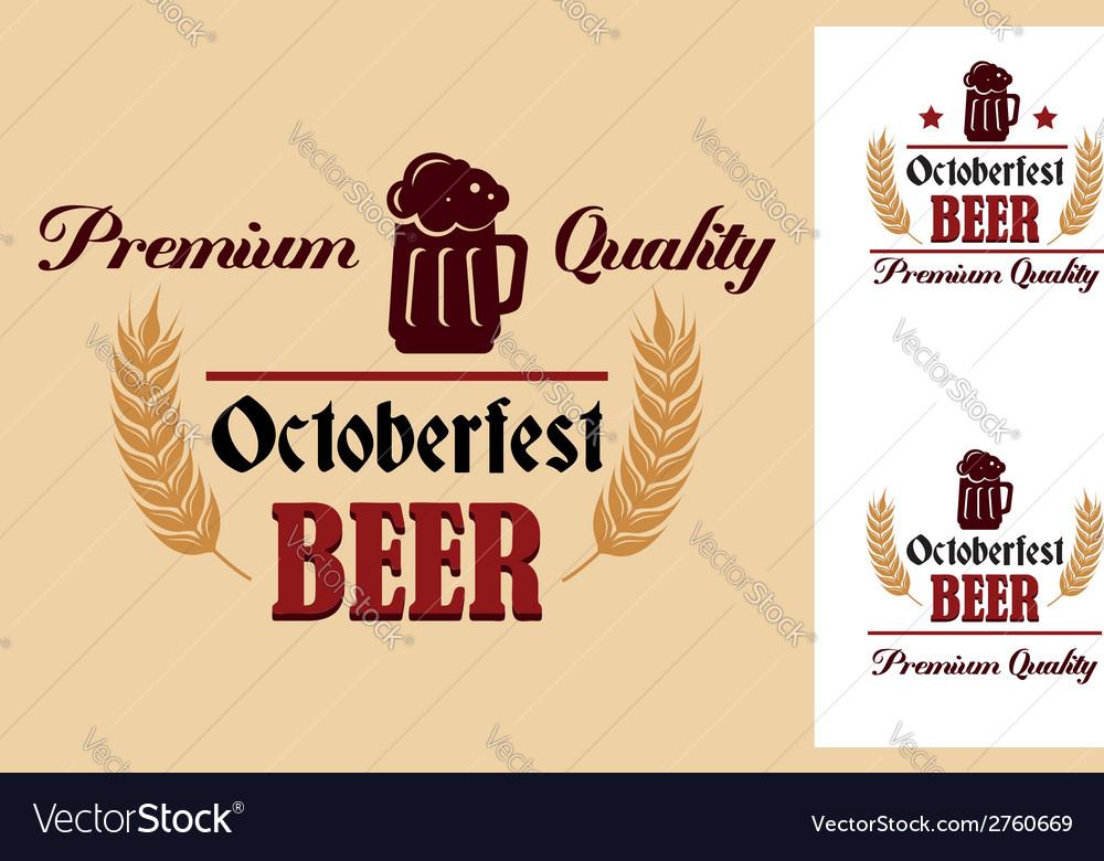 Retro beer label or emblem vector | Price: 1 Credit (USD $1)