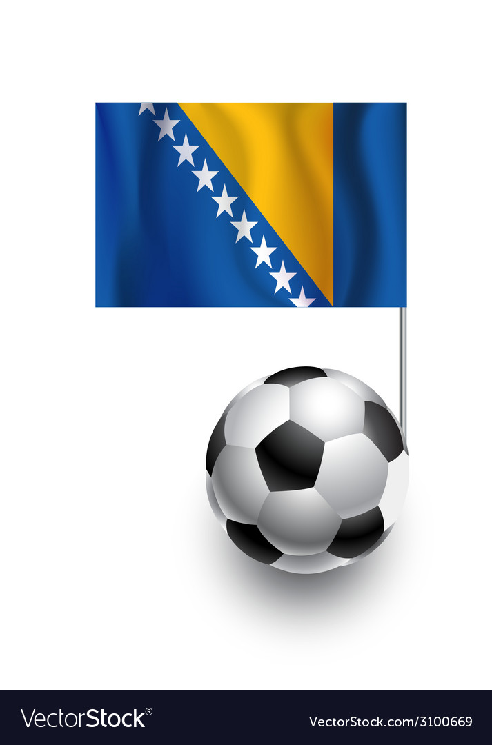 Soccer balls or footballs with flag of bosnia and vector | Price: 1 Credit (USD $1)