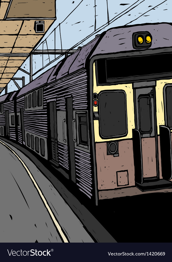Train platform background vector   Price: 1 Credit (USD $1)