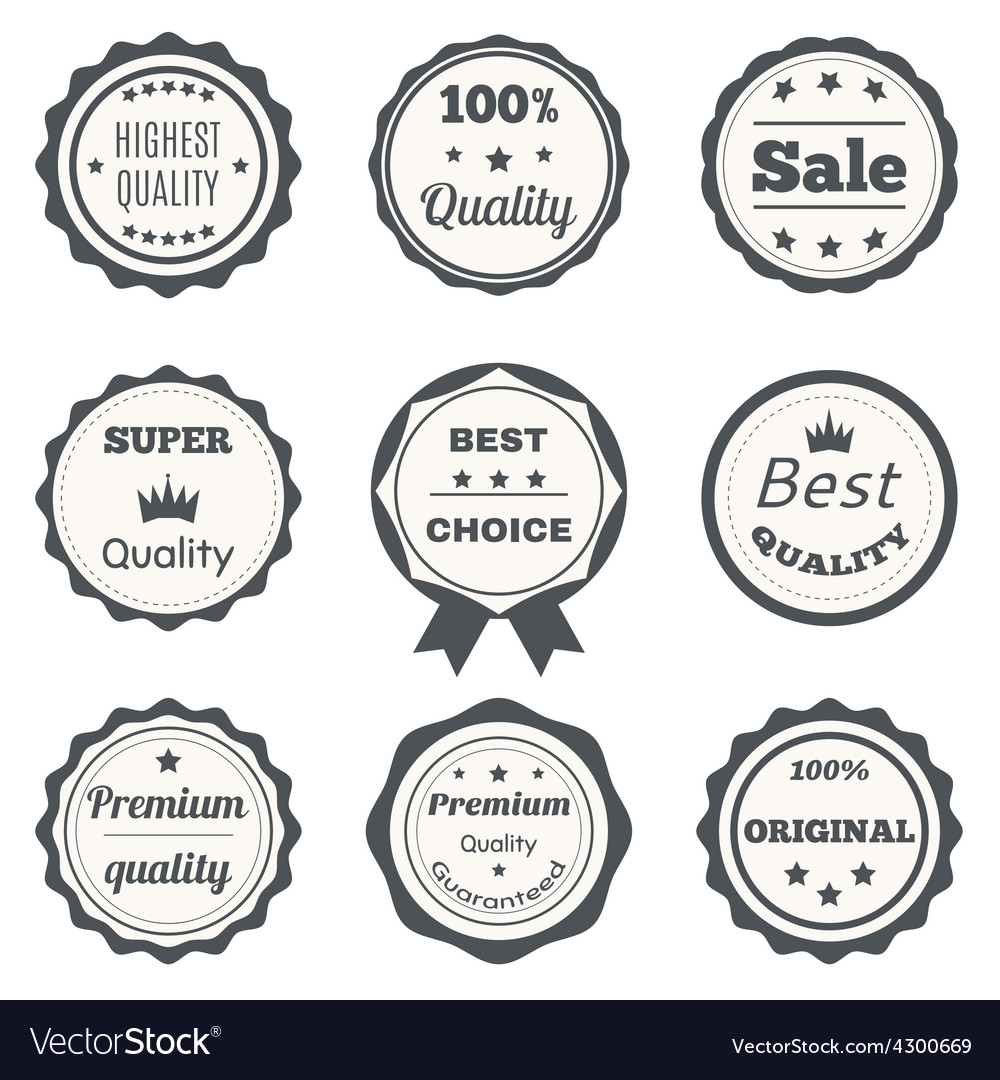 Vintage badges best choice premium quality highest vector | Price: 1 Credit (USD $1)