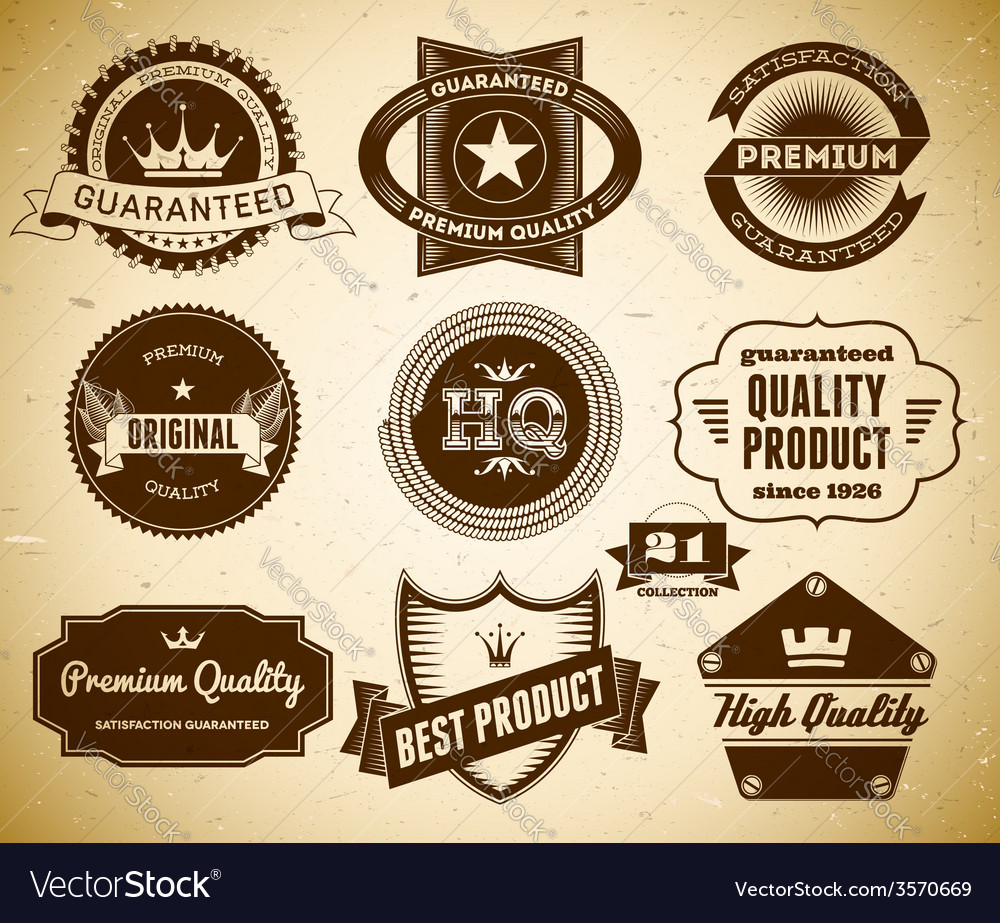 Vintage labels collection 21 vector | Price: 1 Credit (USD $1)