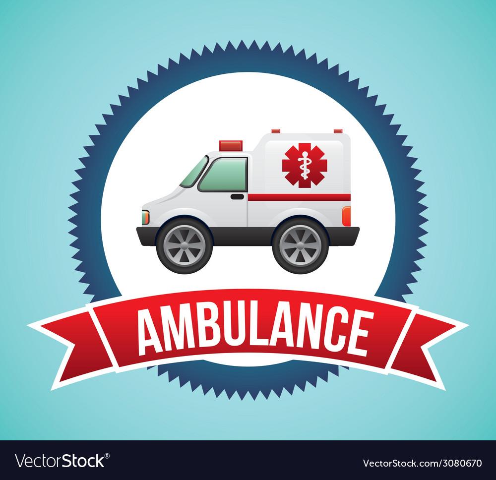 Ambulance design vector | Price: 1 Credit (USD $1)