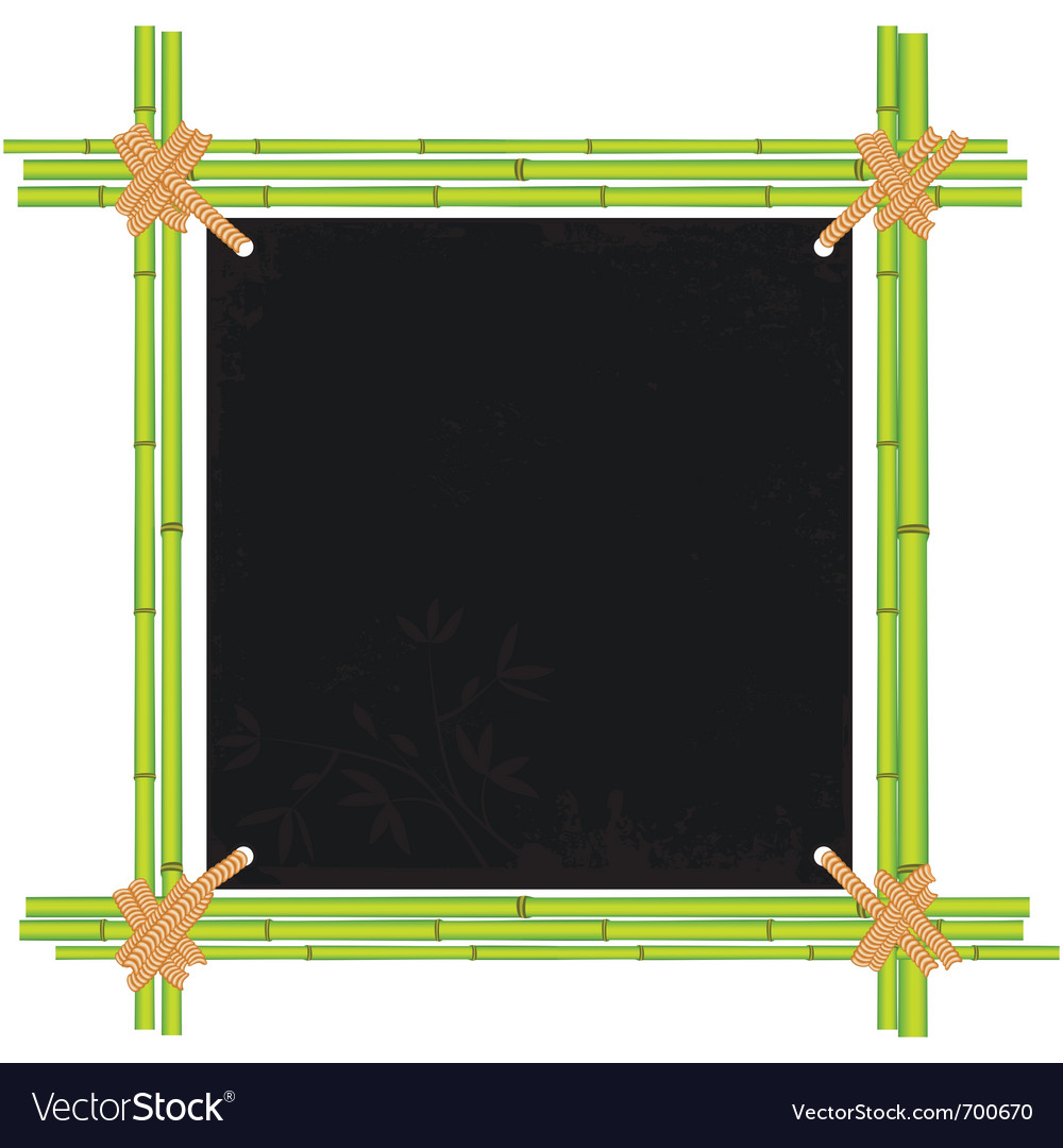 Bamboo asian frame vector | Price: 1 Credit (USD $1)
