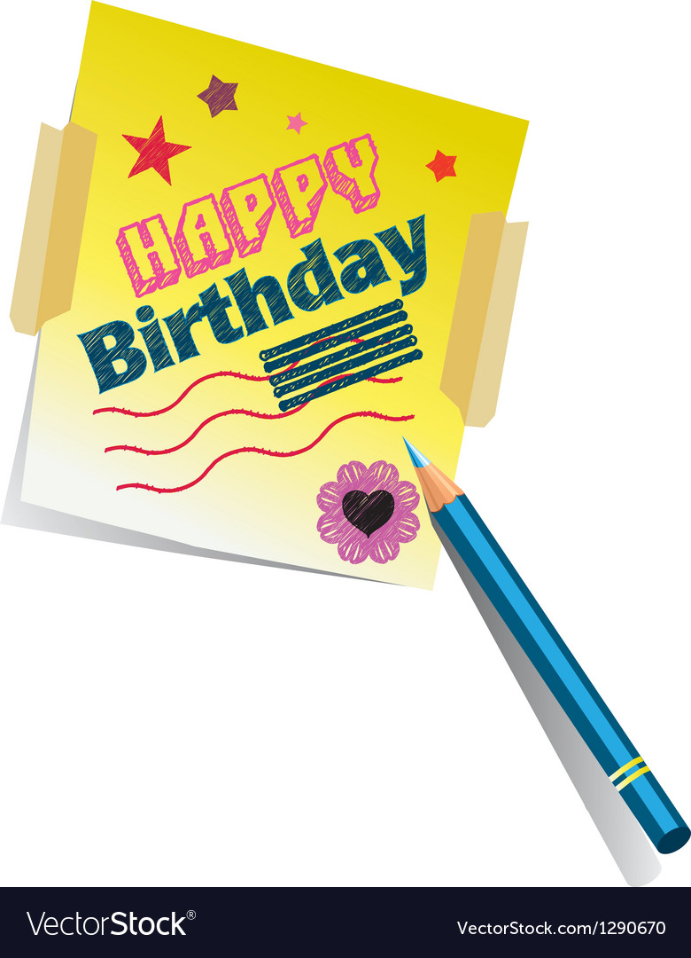 Birthday memo vector | Price: 1 Credit (USD $1)