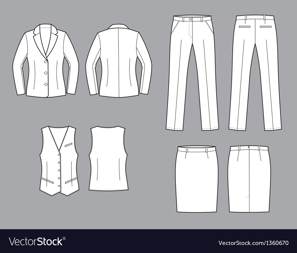 Business suit vector | Price: 1 Credit (USD $1)