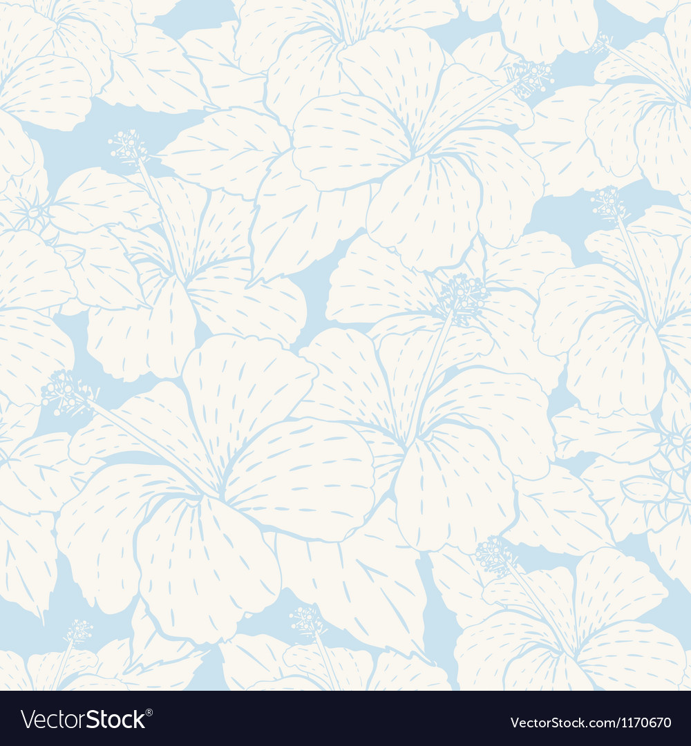 Elegance seamless pastel flower pattern vector | Price: 1 Credit (USD $1)