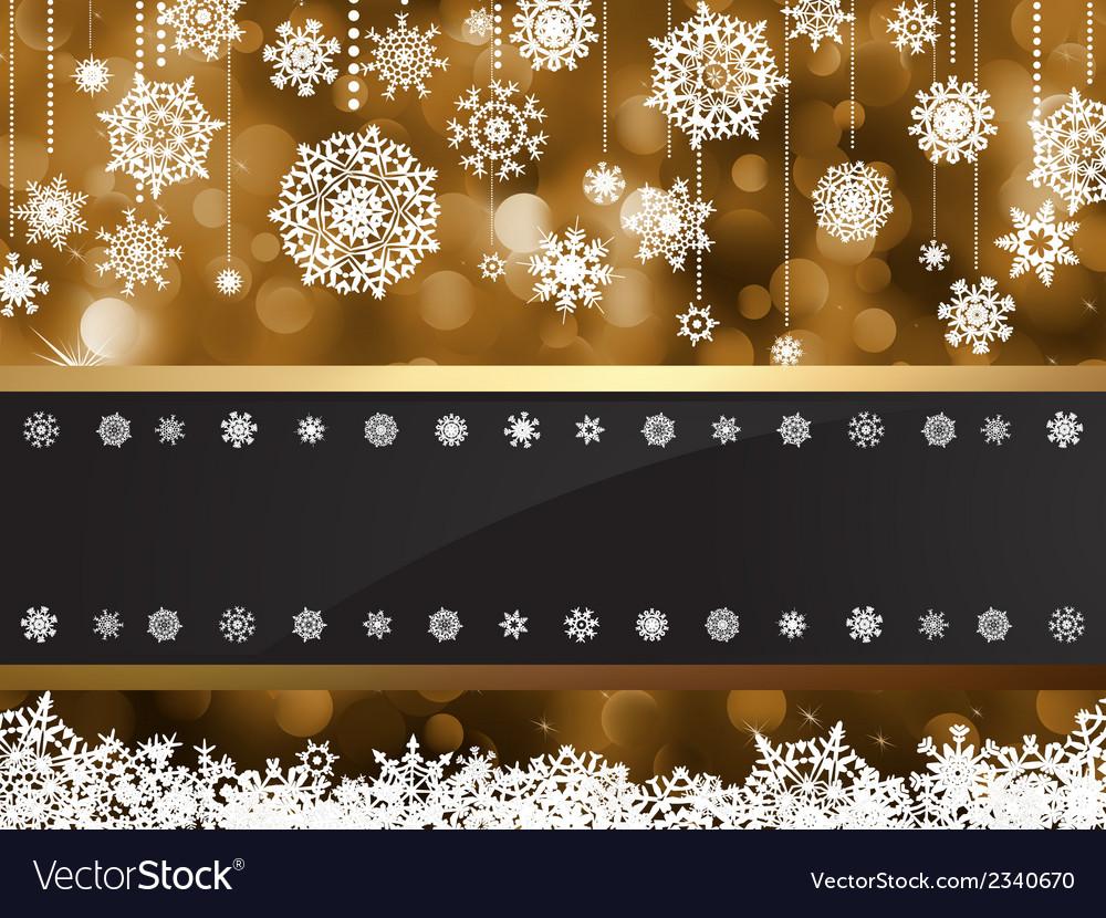 Gold elegant christmas background eps 8 vector | Price: 1 Credit (USD $1)