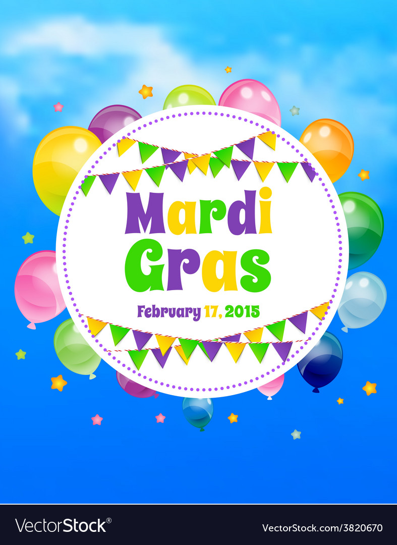 Mardi gras background with flags vector   Price: 1 Credit (USD $1)