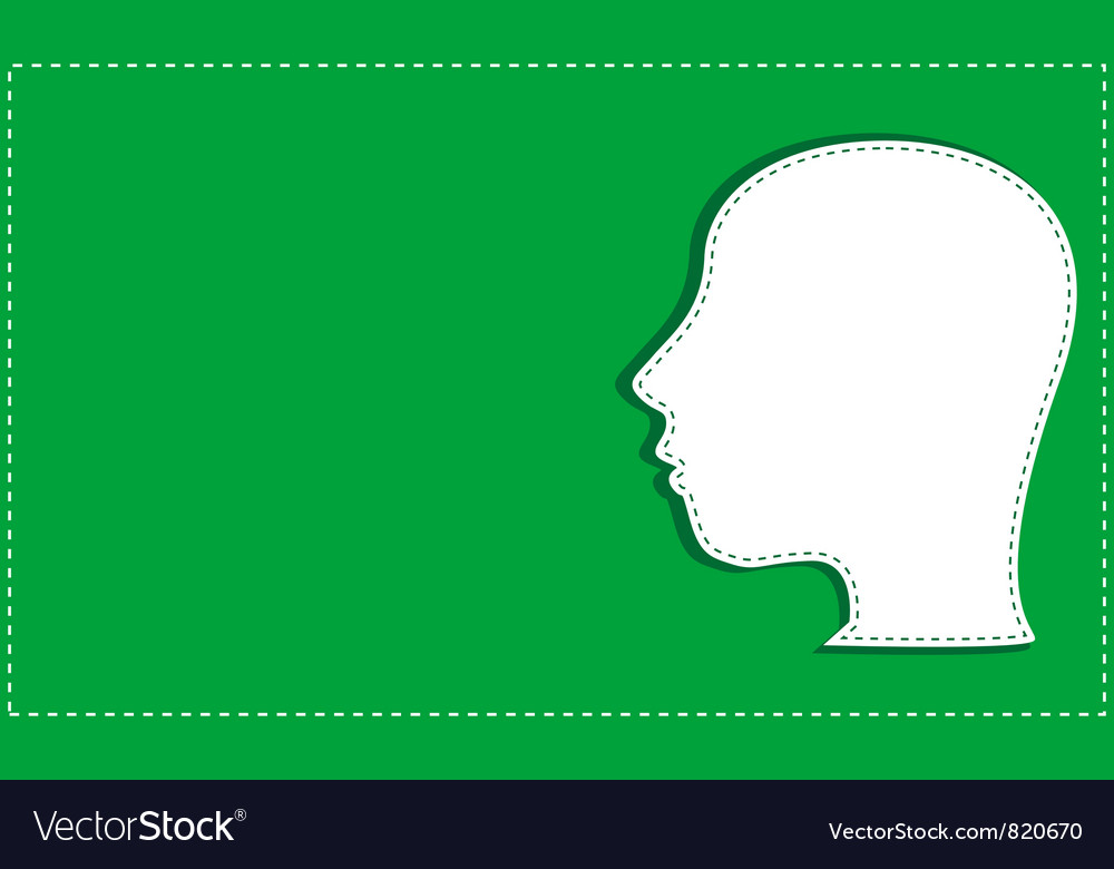 Silhouette of man head vector | Price: 1 Credit (USD $1)