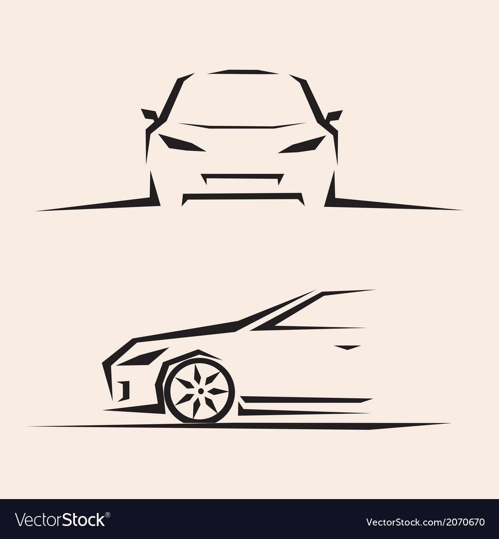 Sport car sketch vector | Price: 1 Credit (USD $1)