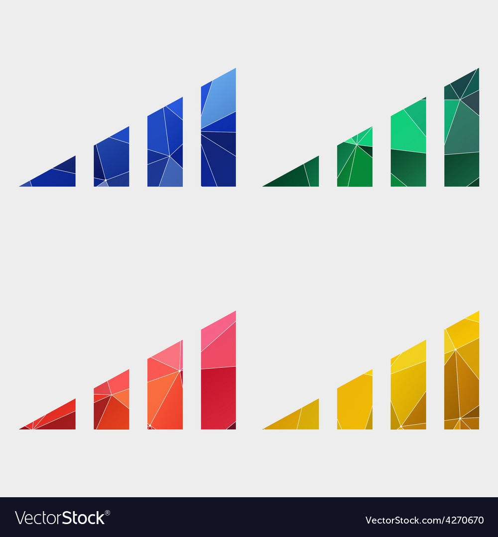 Volume level icon abstract triangle vector | Price: 1 Credit (USD $1)