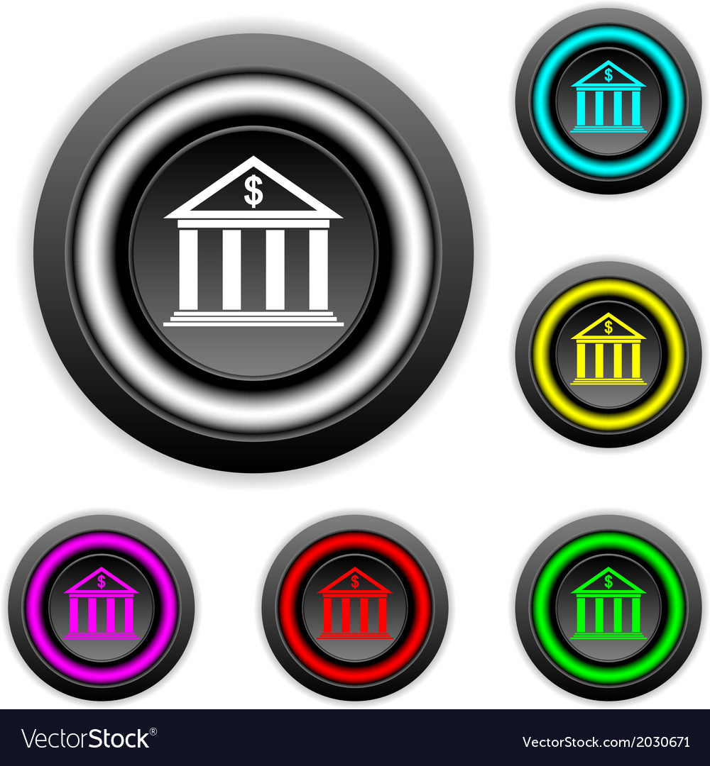 Bank buttons set vector | Price: 1 Credit (USD $1)