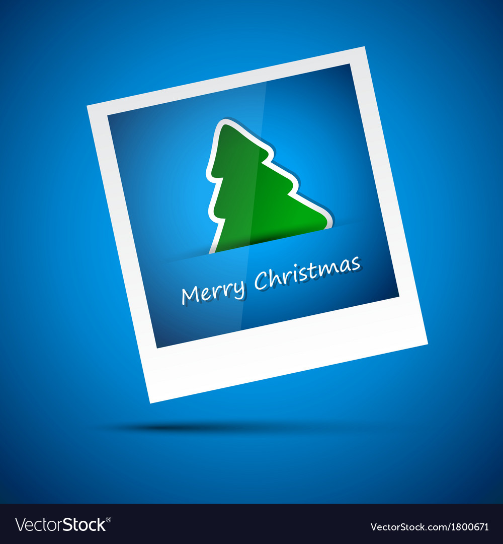 Blue picture of merry christmas vector | Price: 1 Credit (USD $1)