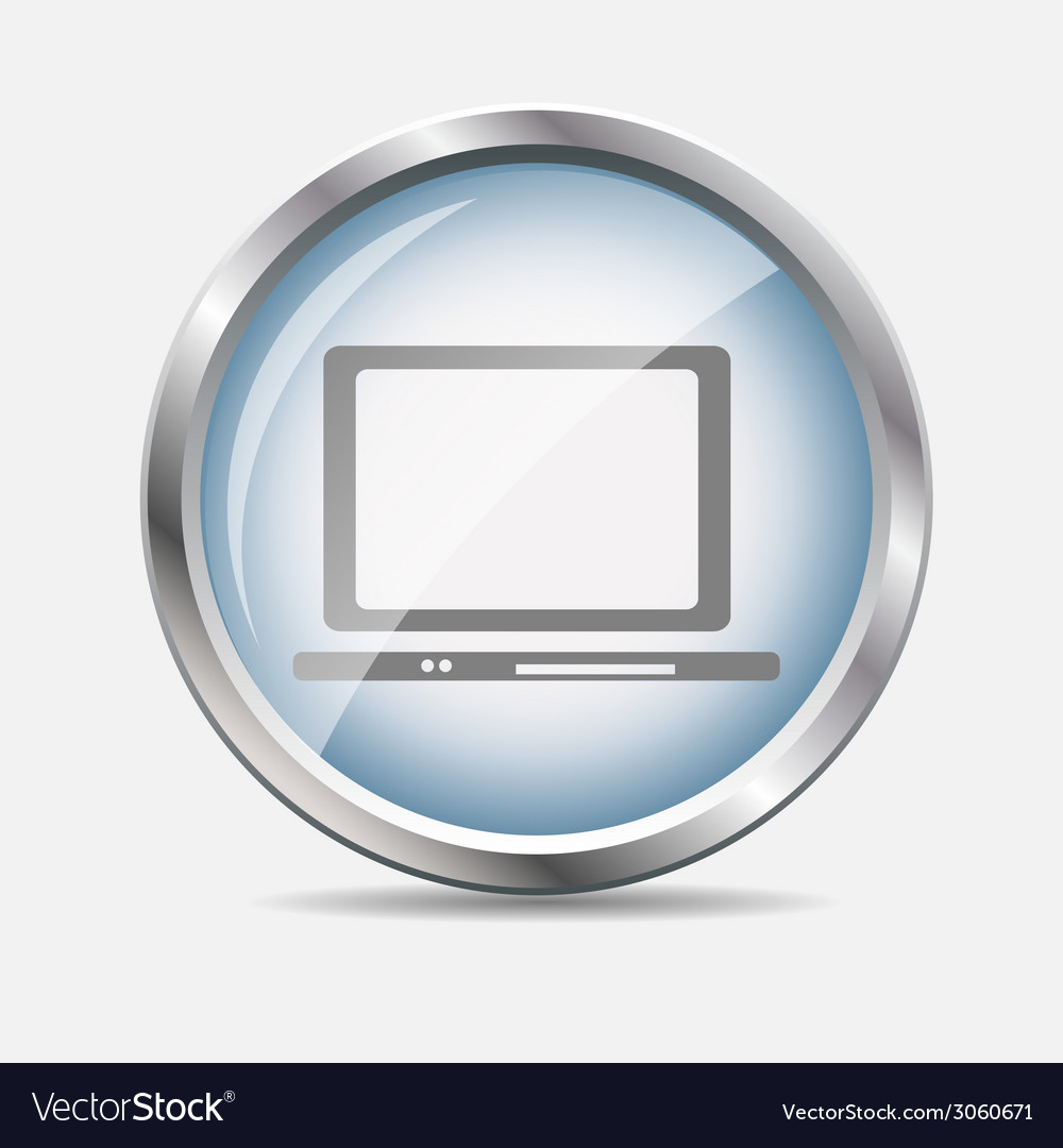 Computer glossy icon vector | Price: 1 Credit (USD $1)