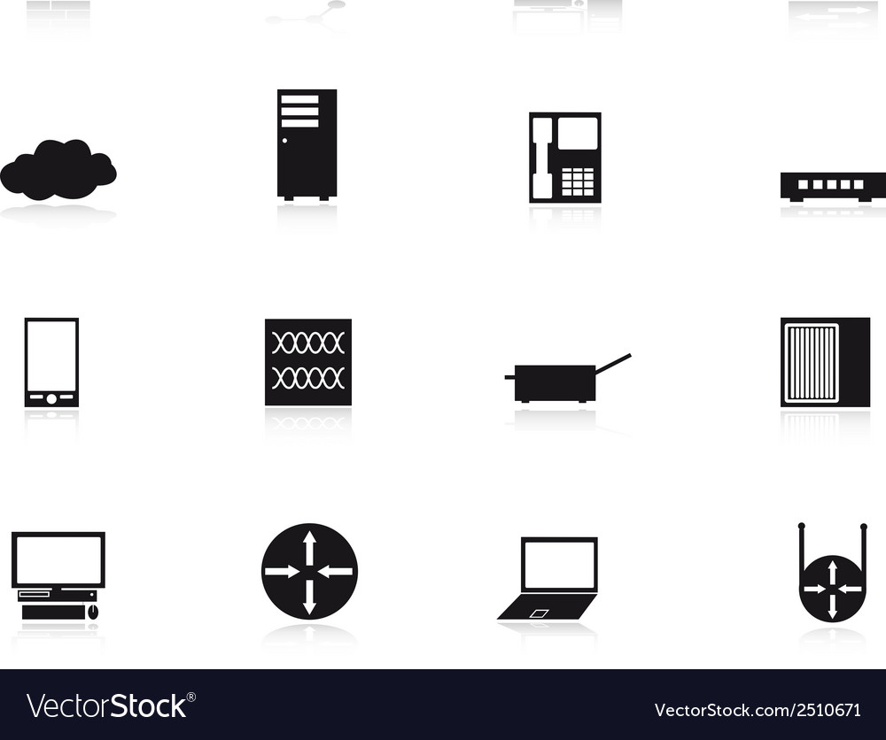 Computer network icons eps10 vector | Price: 1 Credit (USD $1)