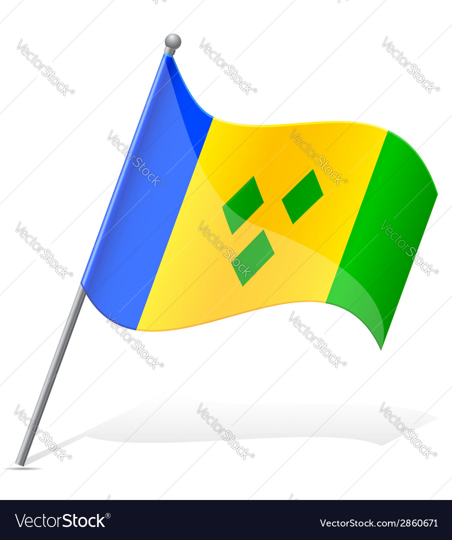 Flag of saint vincent to grenada vector | Price: 1 Credit (USD $1)