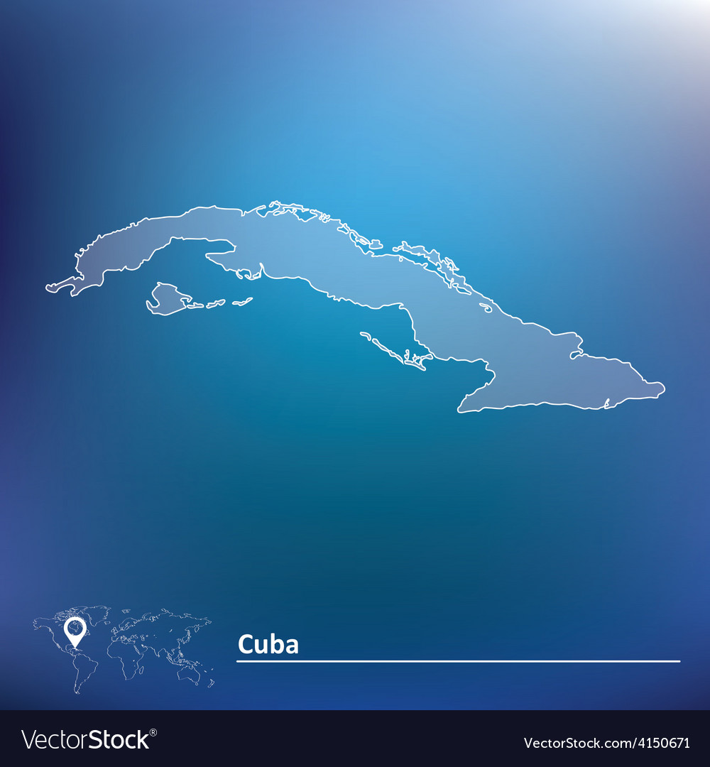 Map of cuba vector | Price: 1 Credit (USD $1)