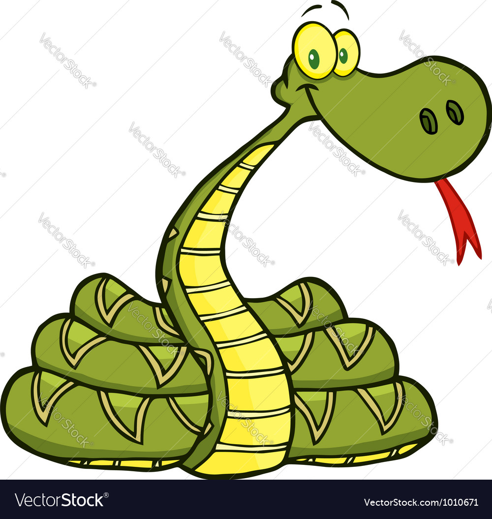 Snake cartoon character vector | Price: 1 Credit (USD $1)