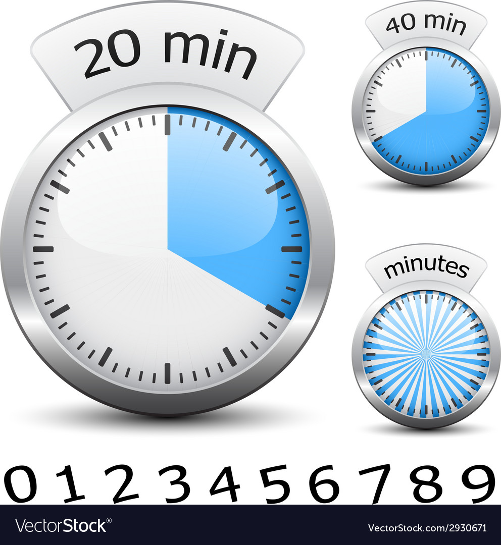 Timer - easy change time every one minute vector | Price: 1 Credit (USD $1)