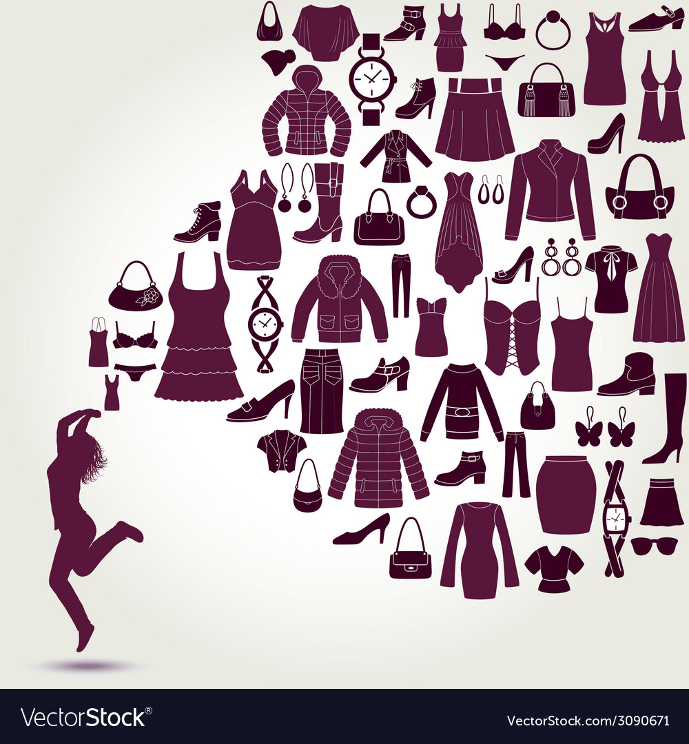 Women s fashion background vector | Price: 1 Credit (USD $1)