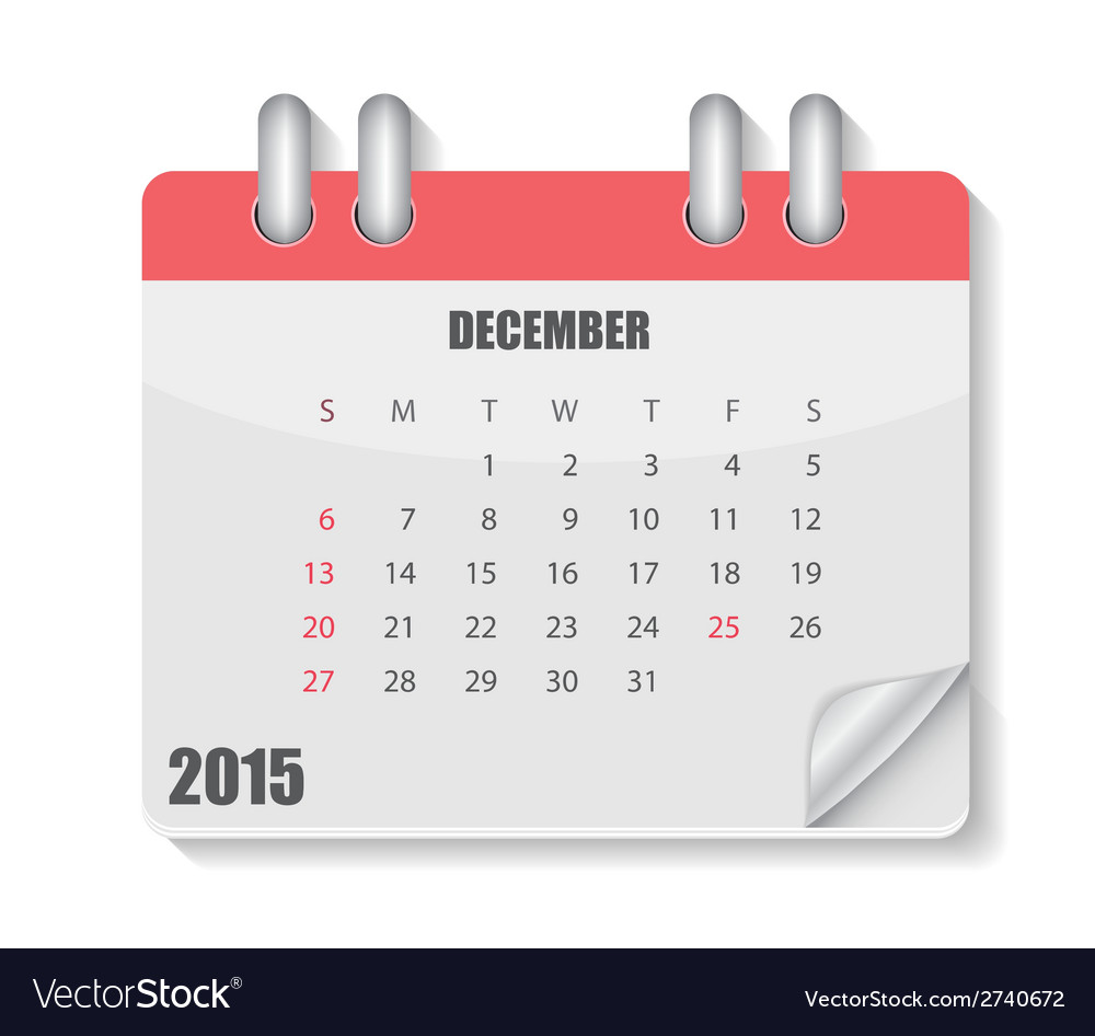 2015 year calendar vector | Price: 1 Credit (USD $1)
